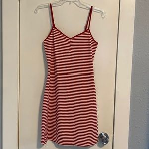 Victoria's Secret Sleep Chemise Red/White Stripe